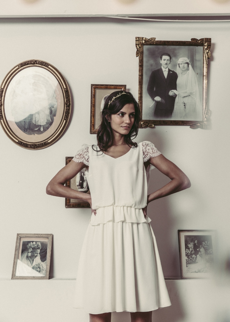 robe de mari e laure de sagazan la collection mariage civil 2016. Black Bedroom Furniture Sets. Home Design Ideas