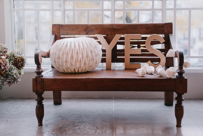 Lorafolk x Monoprix deco mariage lettres YES et lampion l La Fiancee du Panda blog mariage