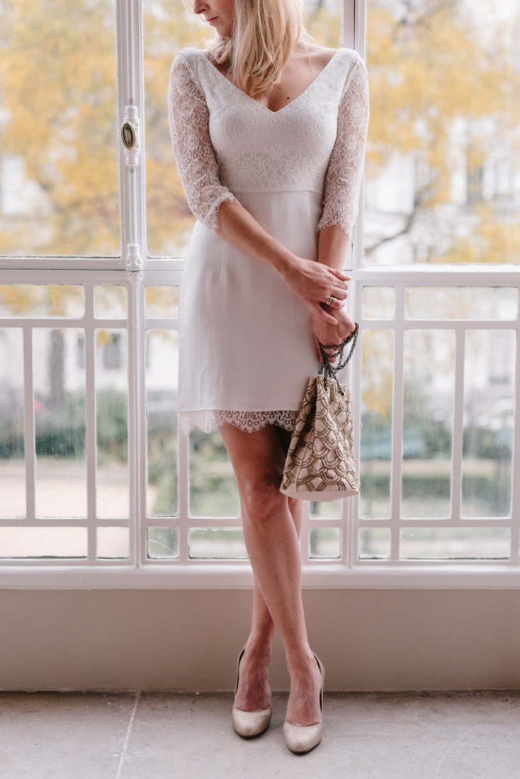 Lorafolk x Monoprix robe de mariee sac brode perles l La Fiancee du Panda blog mariage