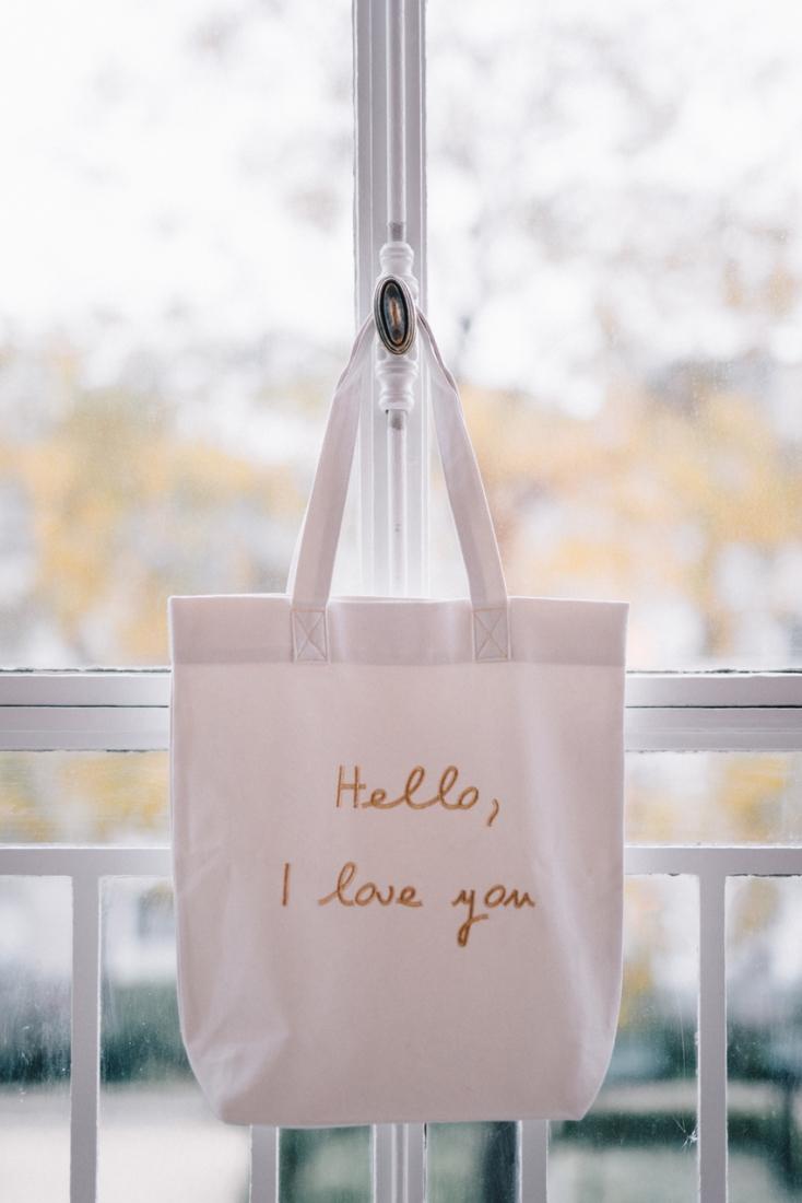 Lorafolk x Monoprix totebag Hello I love you l La Fiancee du Panda blog mariage