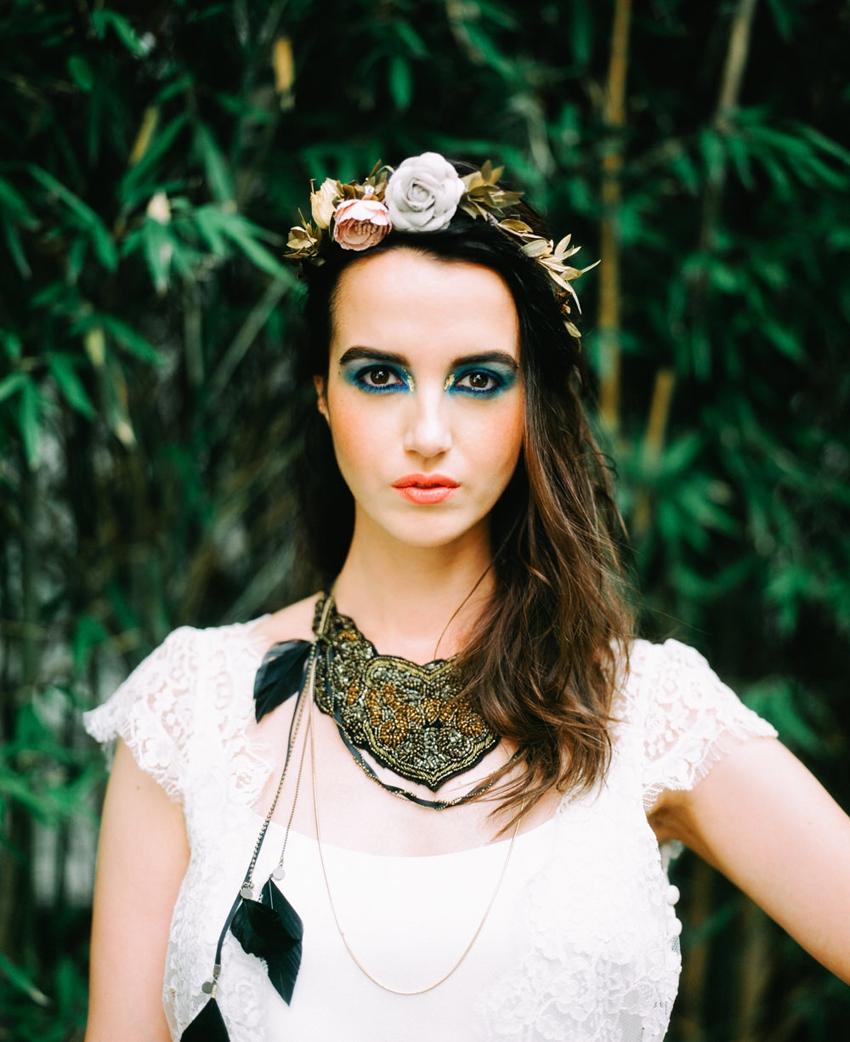 Mariage gypsie inspiration maquillage l Photo Alex Tome l La Fiancee du Panda blog mariage