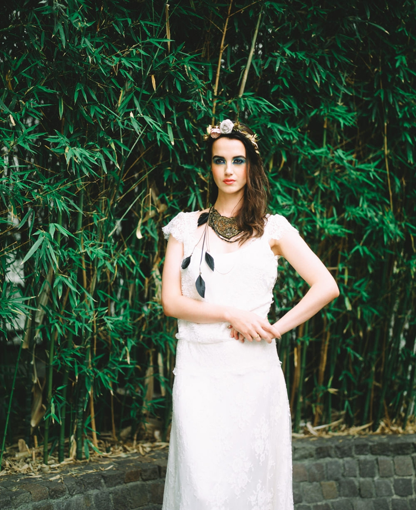 Mariage gypsie inspiration robe de mariee l Photo Alex Tome l La Fiancee du Panda blog mariage