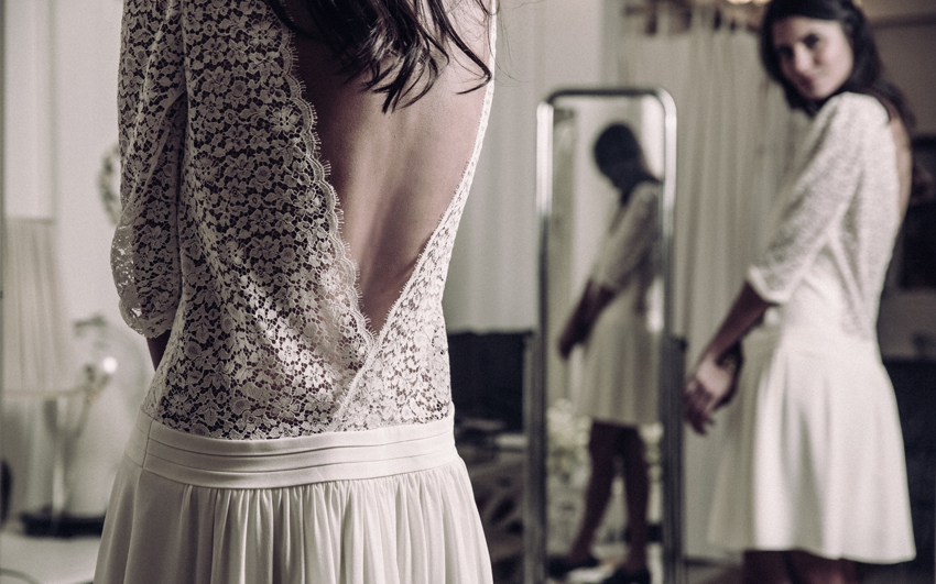 Robe de mariee Laure de Sagazan 2016 Nerval mariage civil l La Fiancee du Panda blog mariage