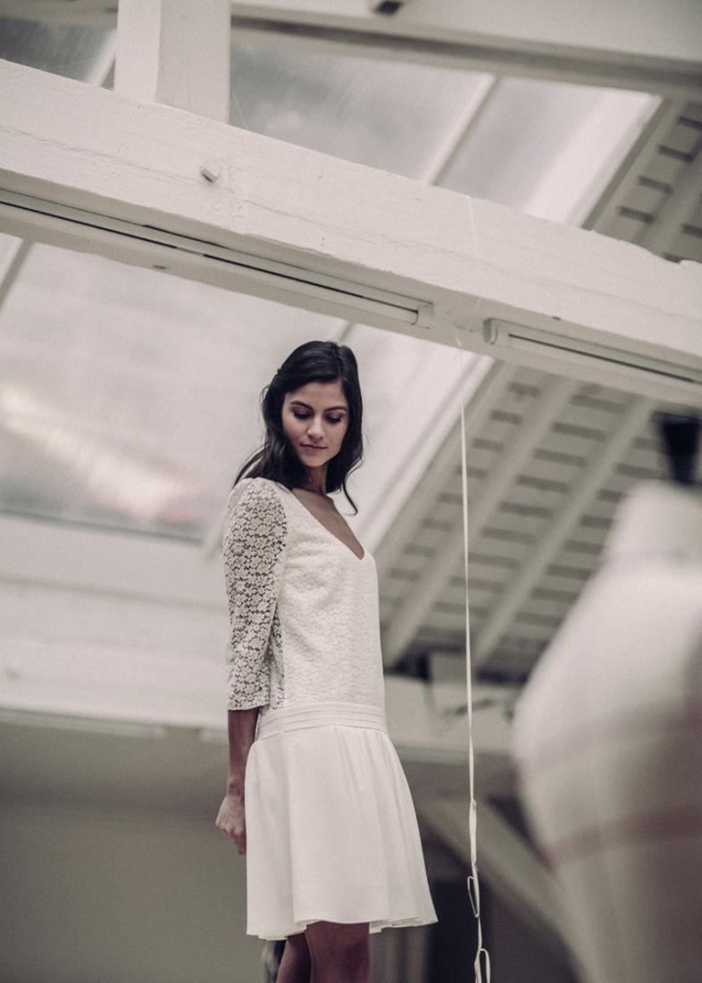 Robe de mariee Laure de Sagazan courte 2016 Nerval l La Fiancee du Panda blog mariage