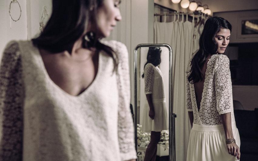 Robe de mariee Laure de Sagazan courte dentelle 2016 Nerval l La Fiancee du Panda blog mariage