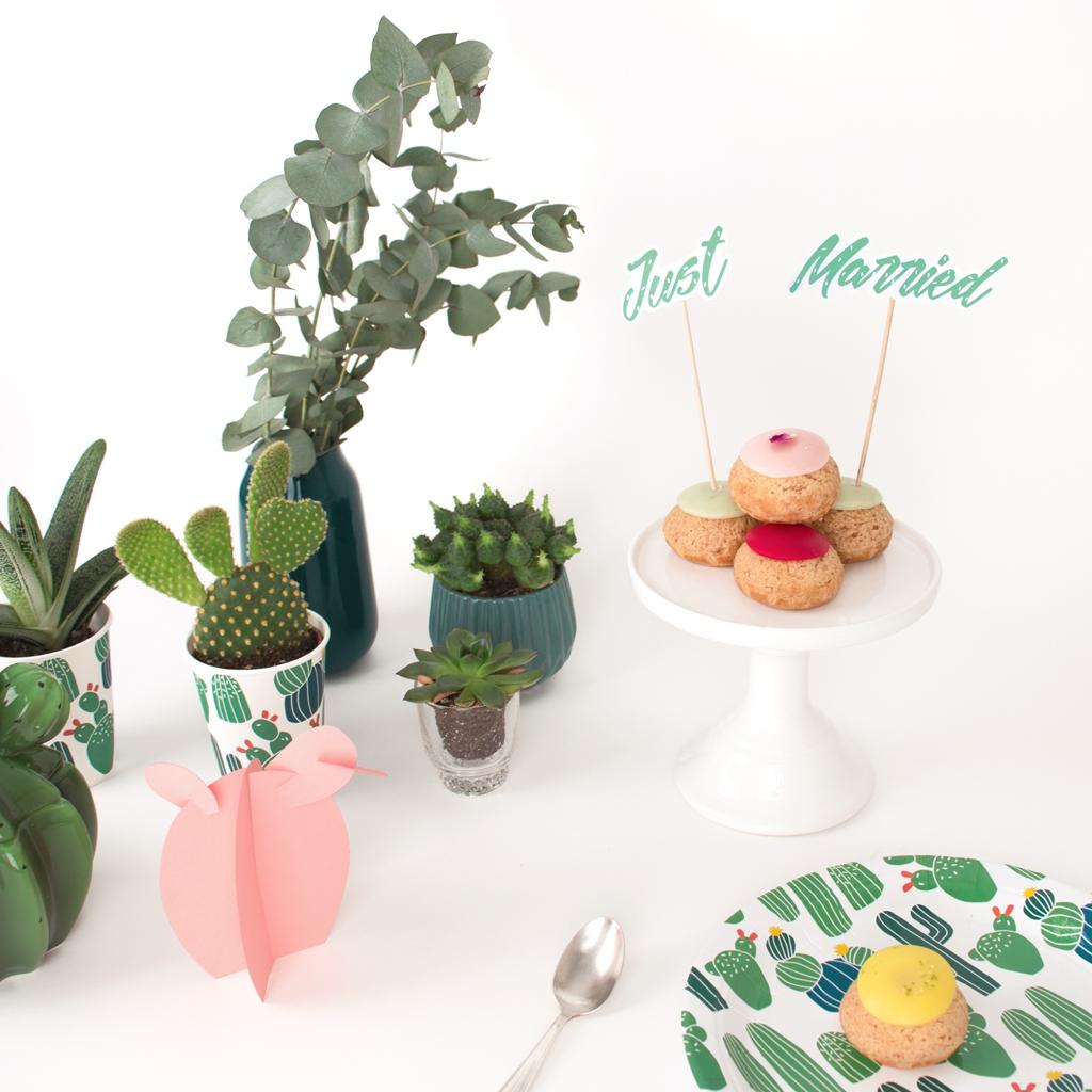 Idee deco EVJF a theme cactus My Little Day l La Fiancee du Panda blog mariage