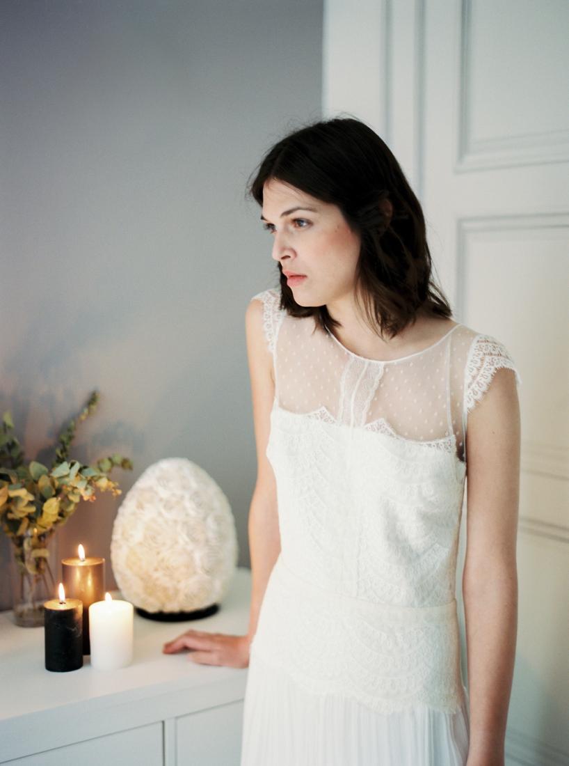 Robe de mariee sur mesure Paris Stephanie Wolff creatrice collection 2017 l Credit photo l'Artisan Photographe l La Fiancee du Panda blog mariage--20