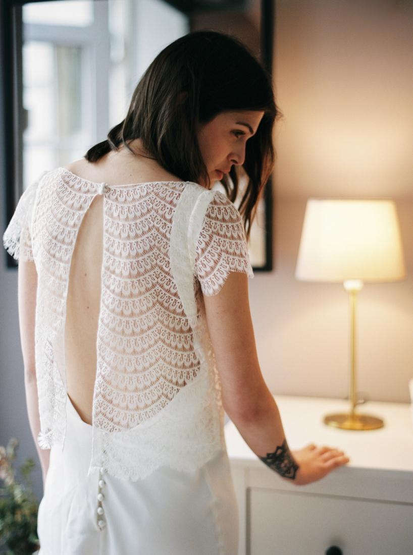 Robe de mariee sur mesure Paris Stephanie Wolff creatrice collection 2017 l Credit photo l'Artisan Photographe l La Fiancee du Panda blog mariage--35