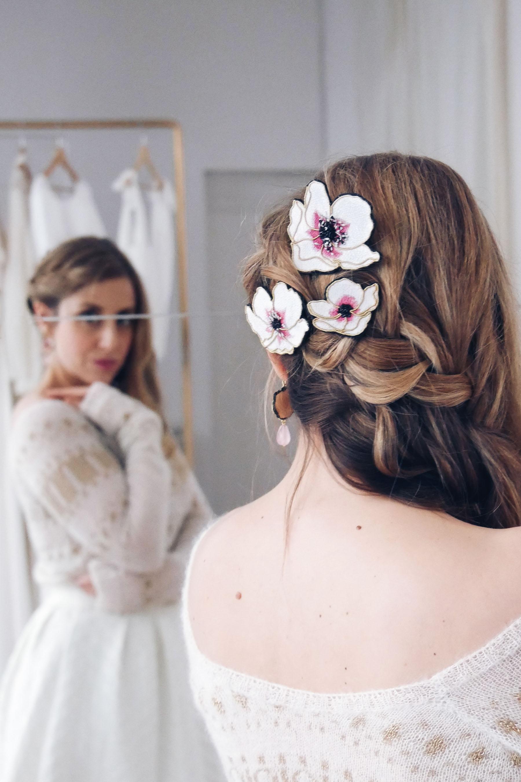 Bijoux de cheveux fait main Nini Peony collaboration La Fiancee du Panda blog mariage et lifestyle-1