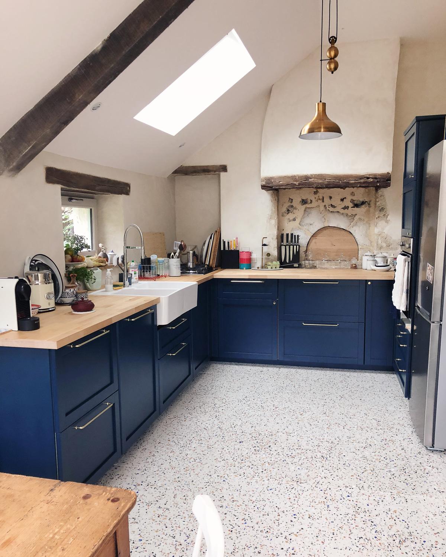 Renovation maison de campagne dans le Perche - cuisine style anglais l La Fiancee du Panda blog deco et mariage-4